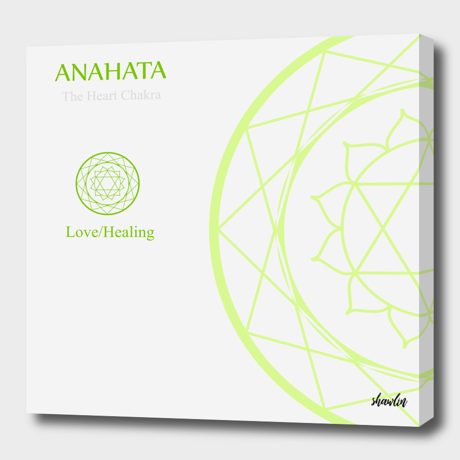 Anahata- The heart chakra which stands for love or healing.