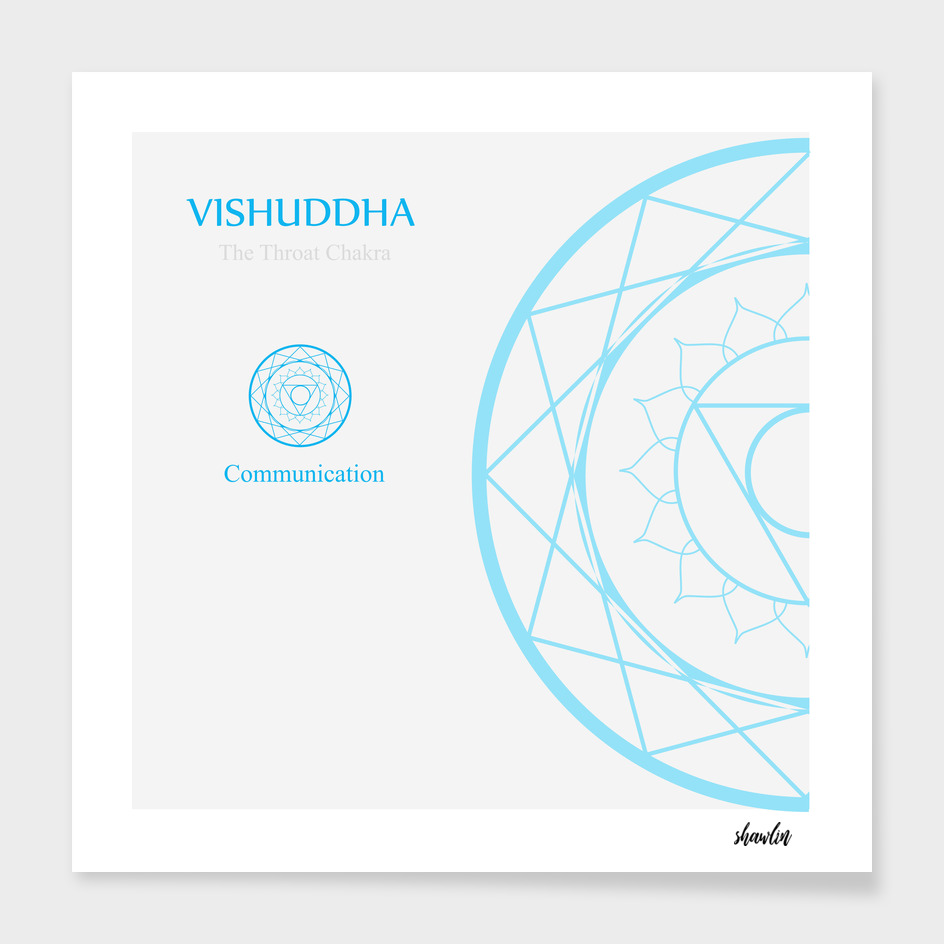 Vishuddha- The throat chakra which stands for communication