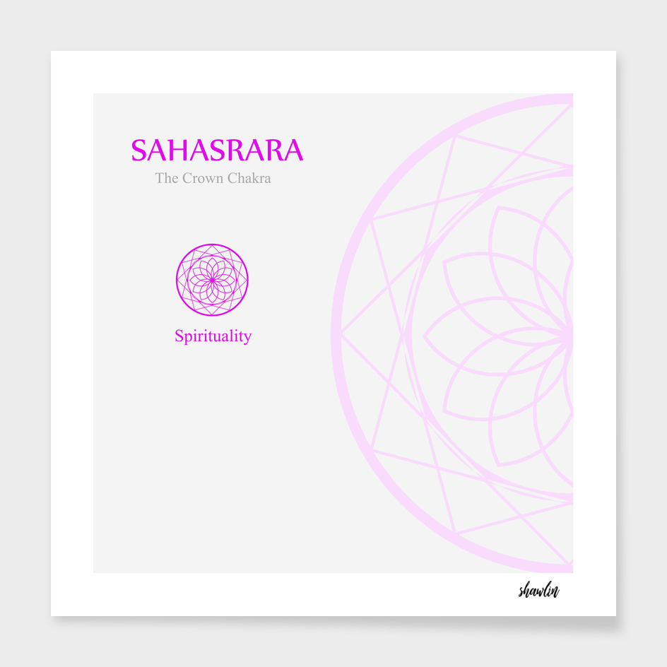 Sahahrara- The crown chakra which stands for spirituality.
