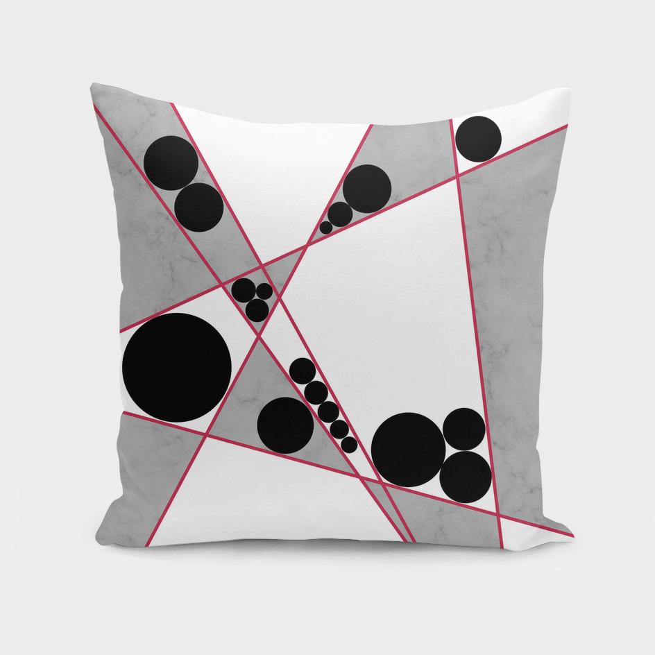 Contemporary Geometric Grey Marble Design