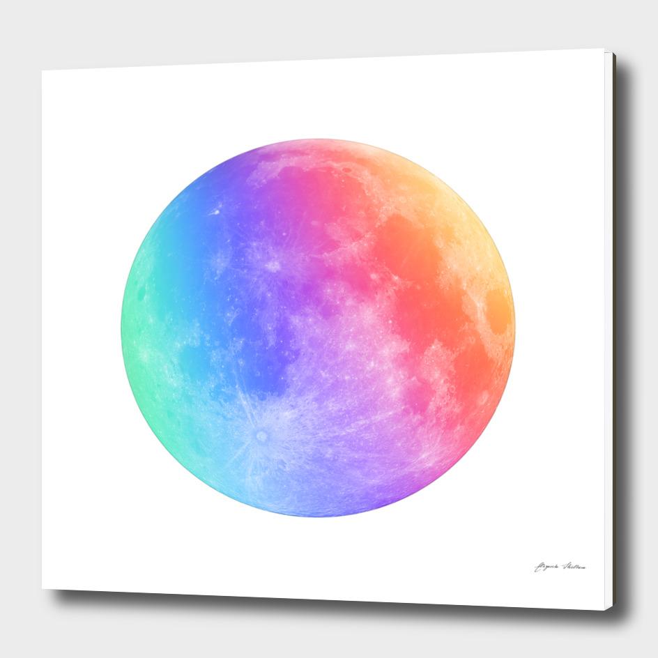 Multicolored Moon