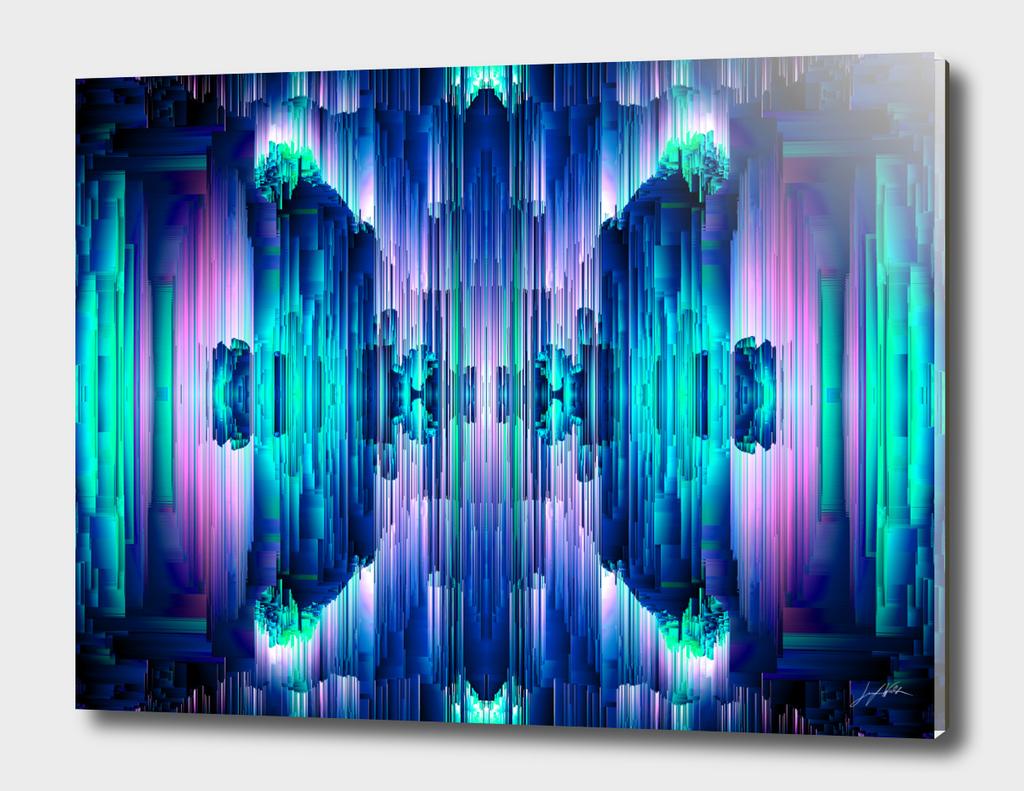 Cavernous Glitch - Abstract Pixel Art