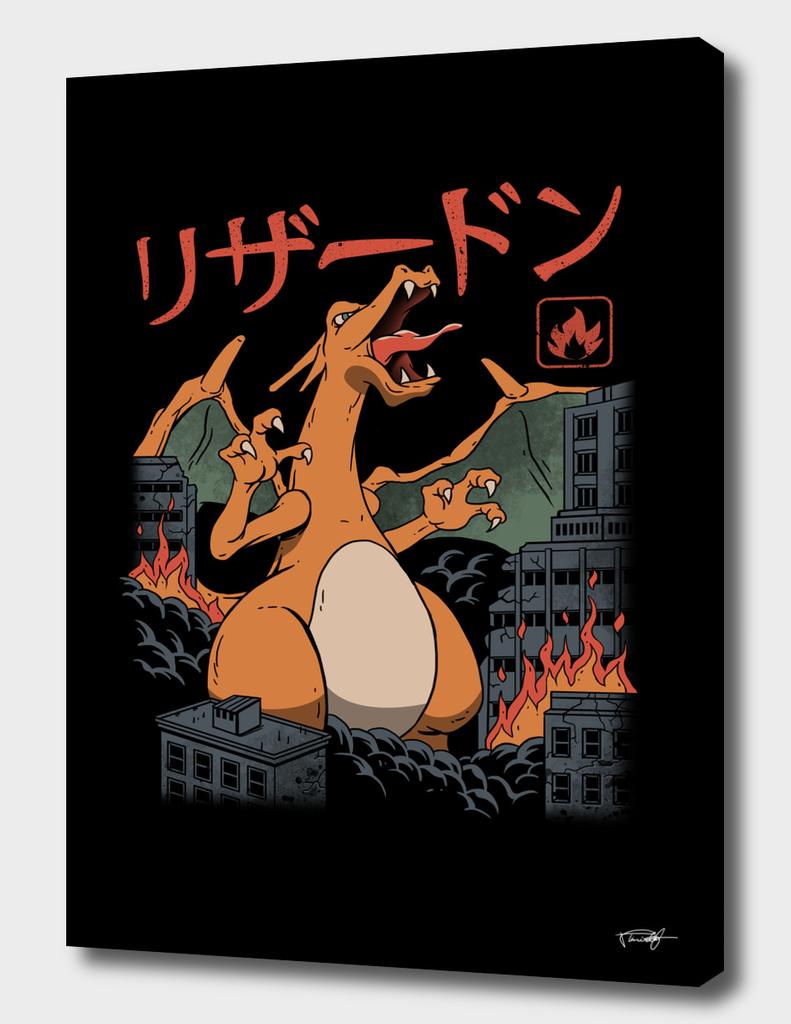 Fire Kaiju - Color Sep