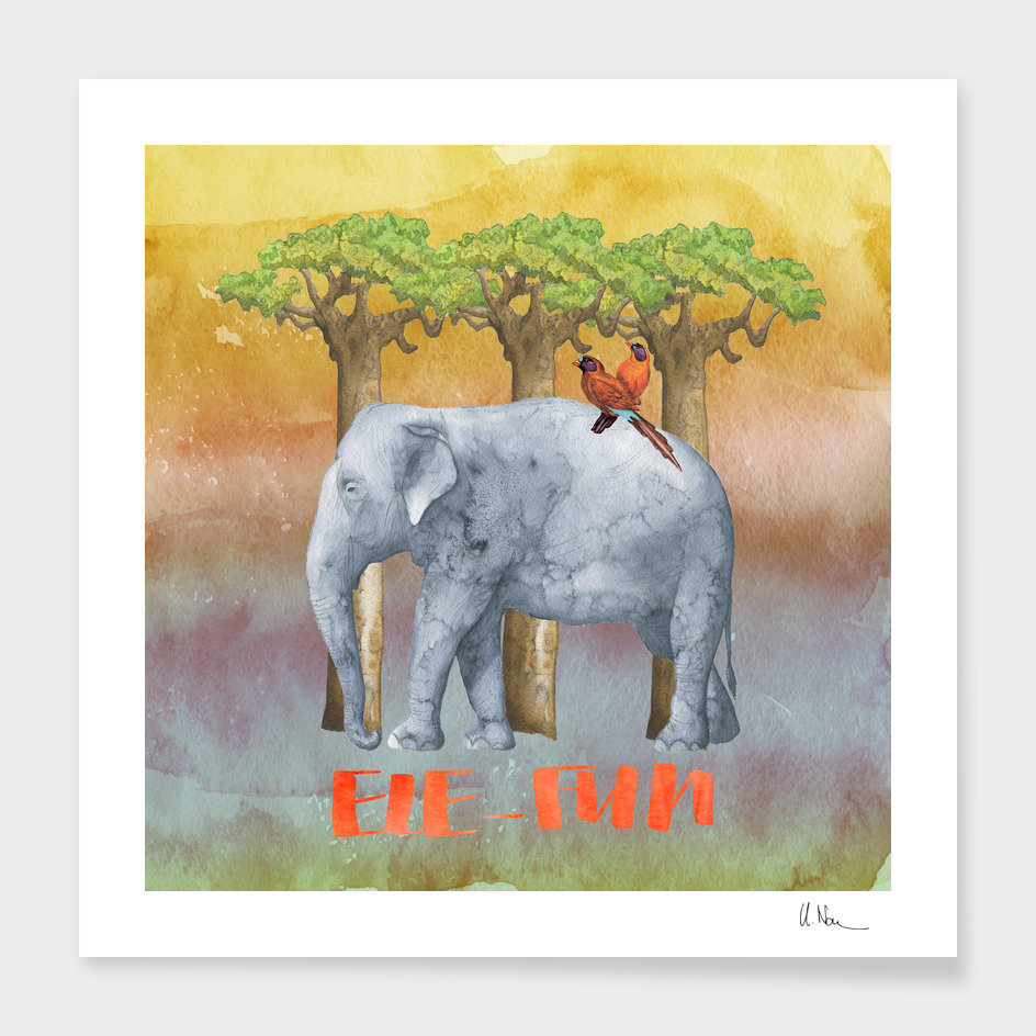 Ele-Fun Illustration and Typography
