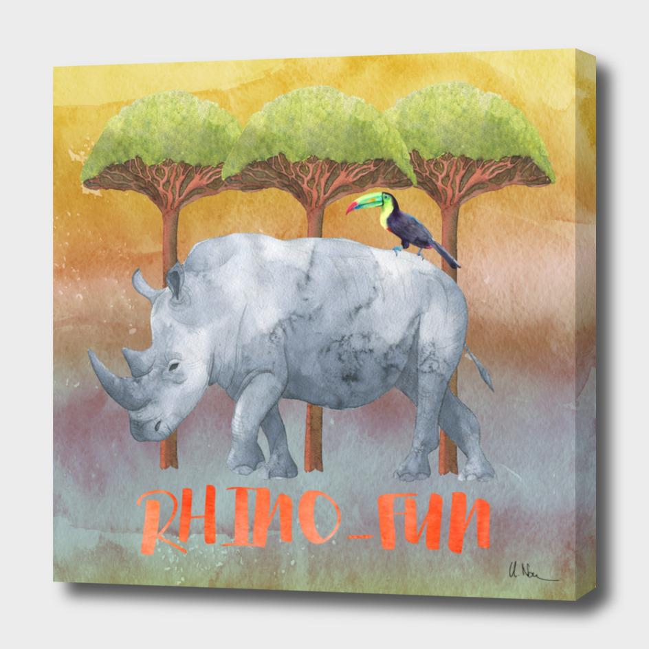 Rhino-FUN - rhinoceros Illustration