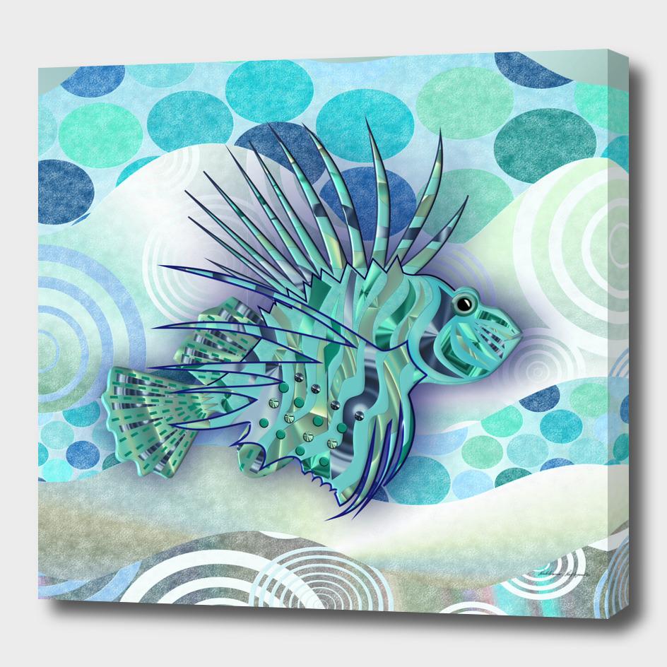 3D Blue Lion-Fish.
