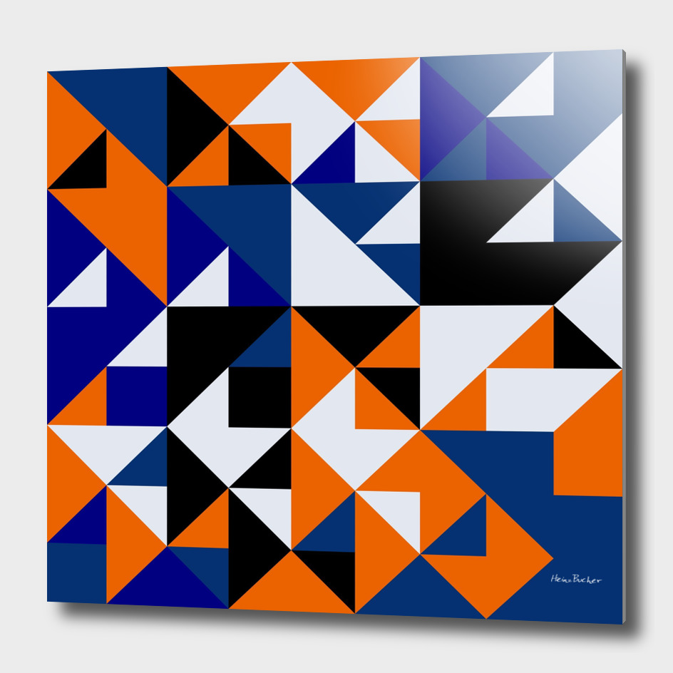Abstract multicoloured triangles