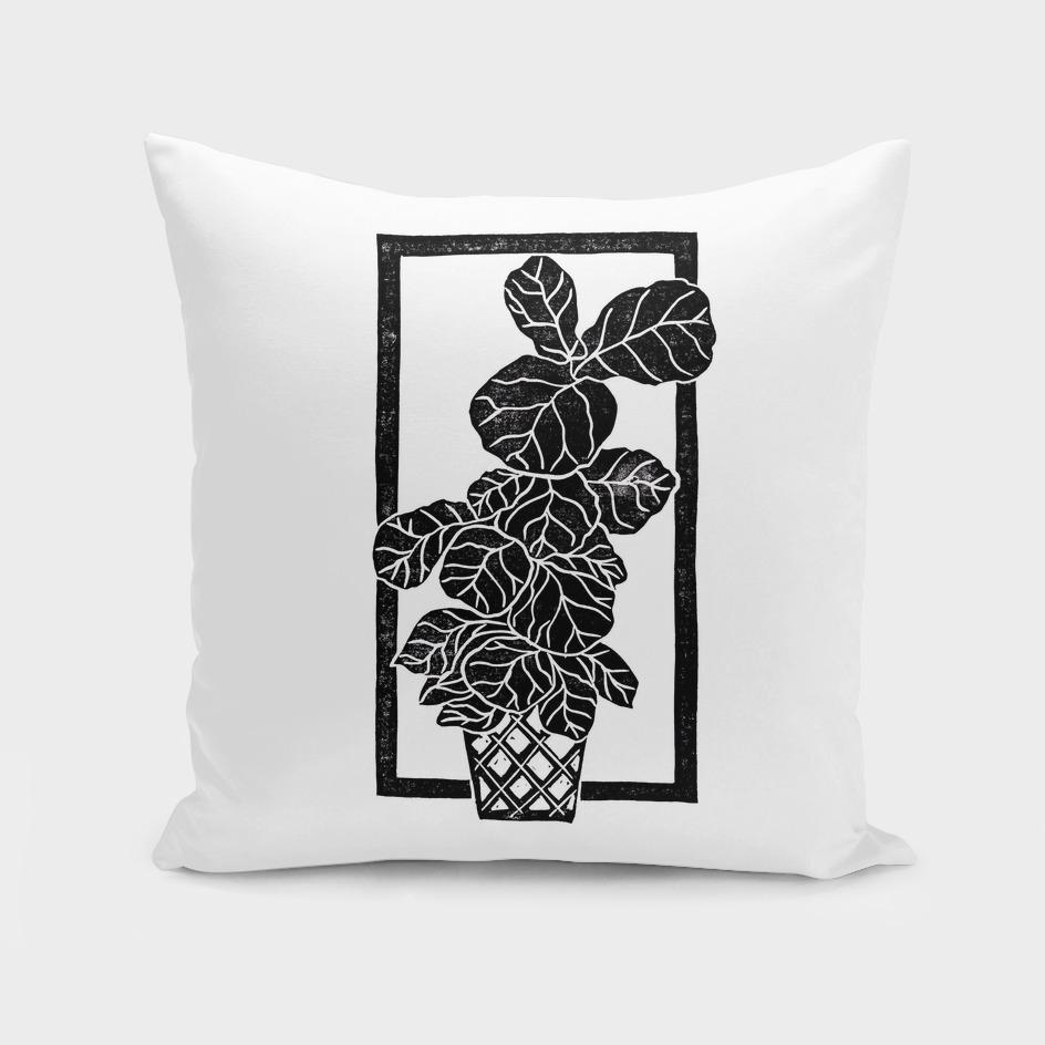 Fiddle Leaf Fig Block Print