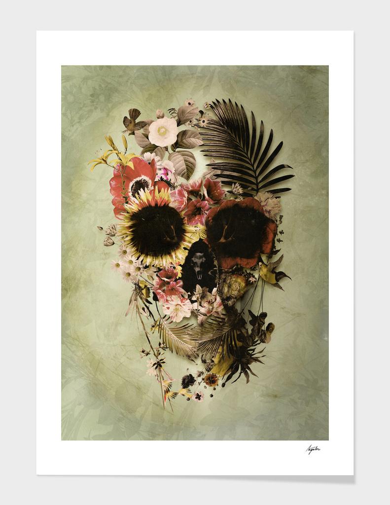 Garden Skull - light