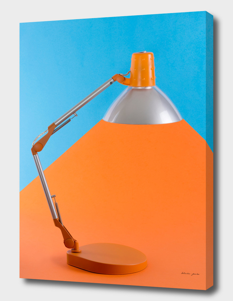 Table lamp for desktop on a color background