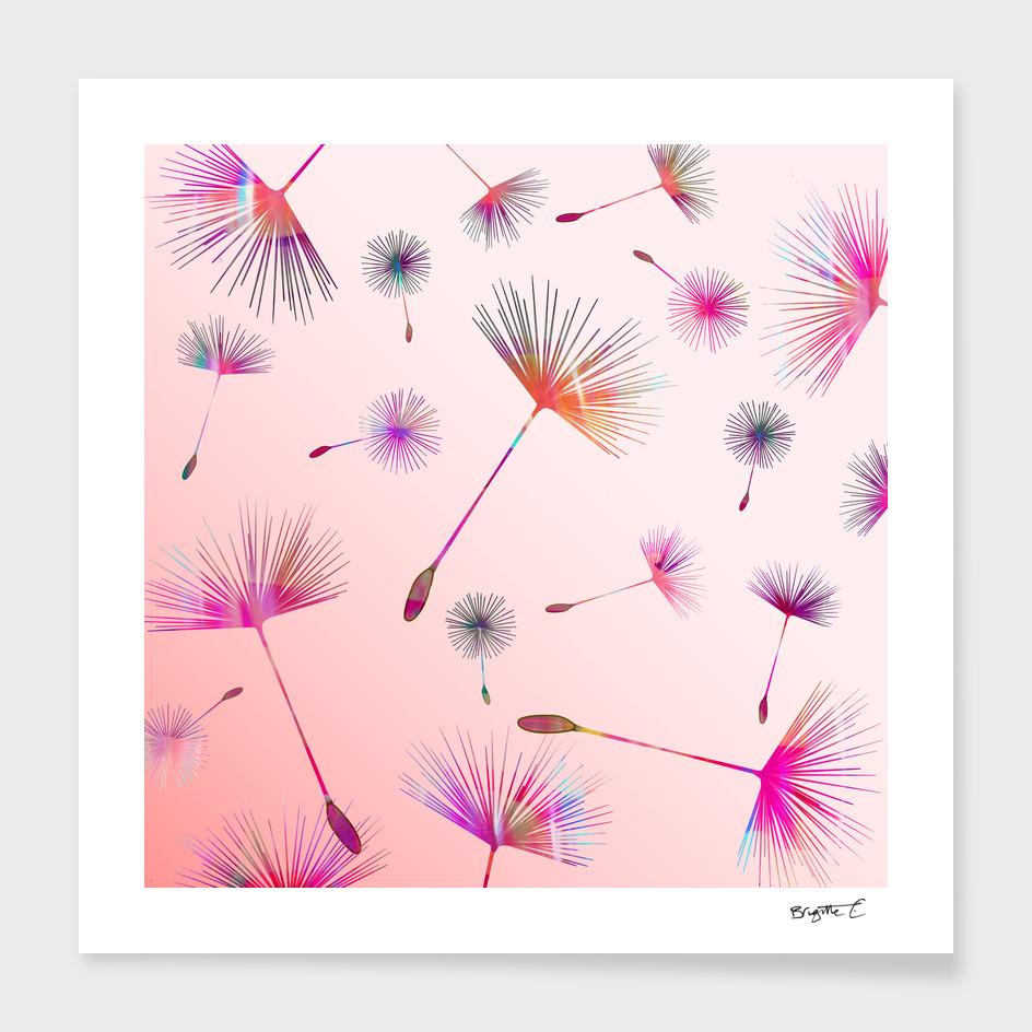 Festive Colorful Dandelions Design