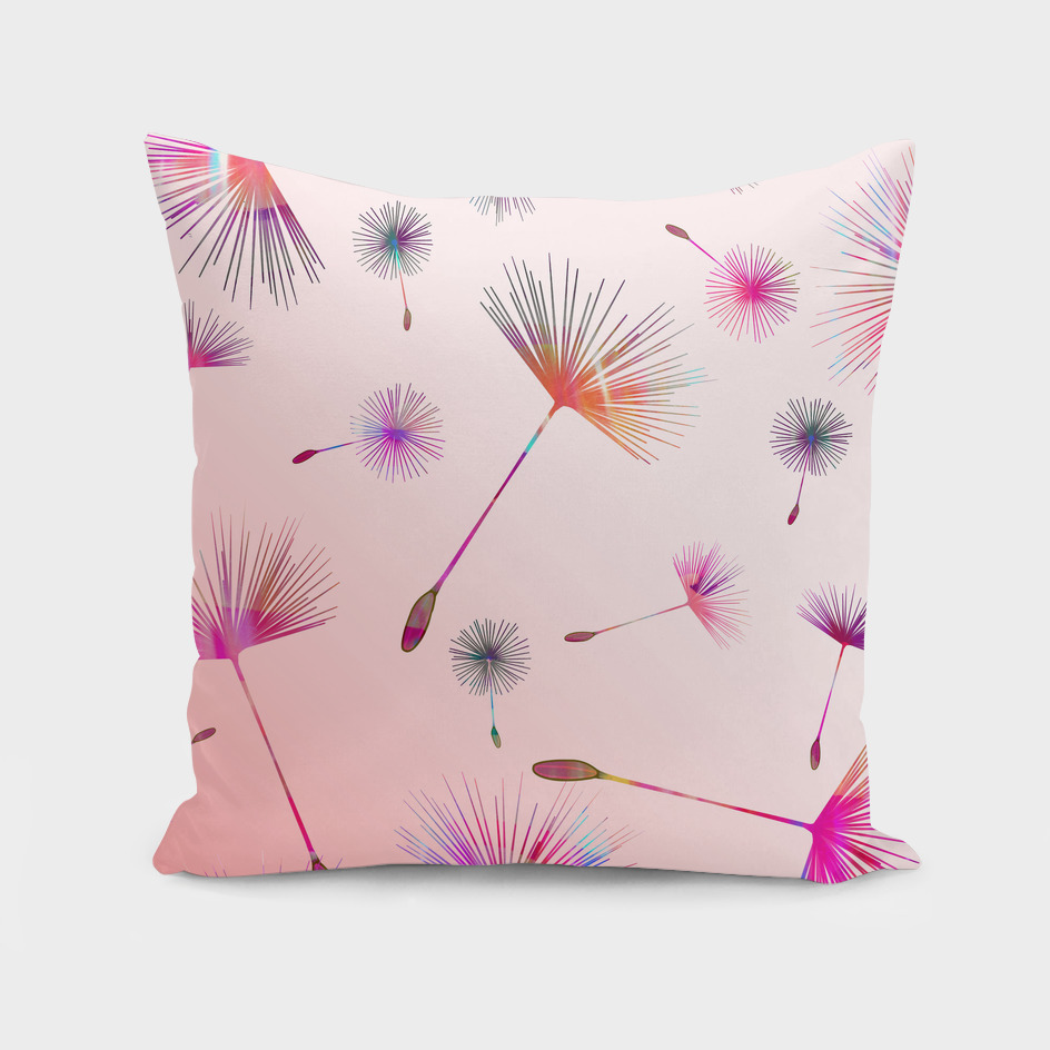 Festive Colorful Dandelions Design