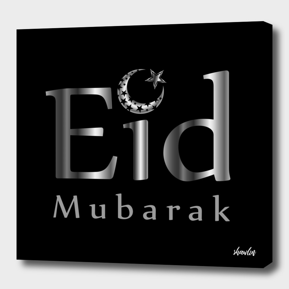 Eid Mubarak with Islamic Star