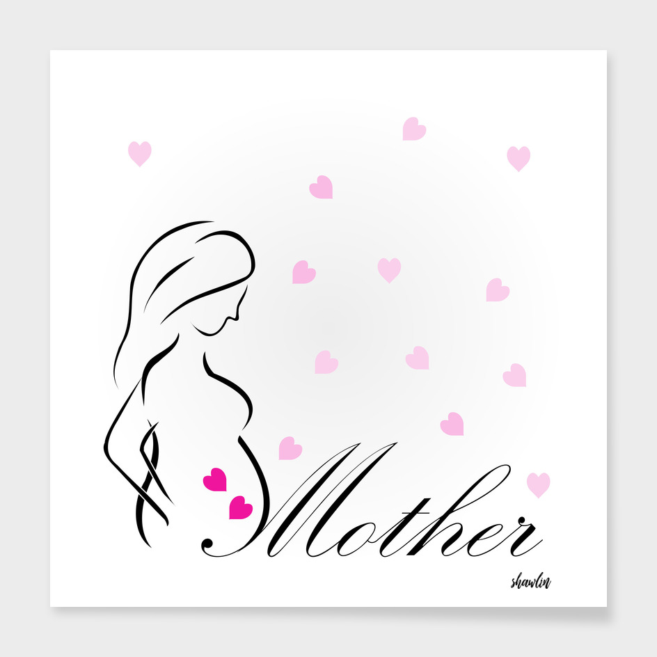 'Mother'- An epitome of love. Drawing of a pregnant lady