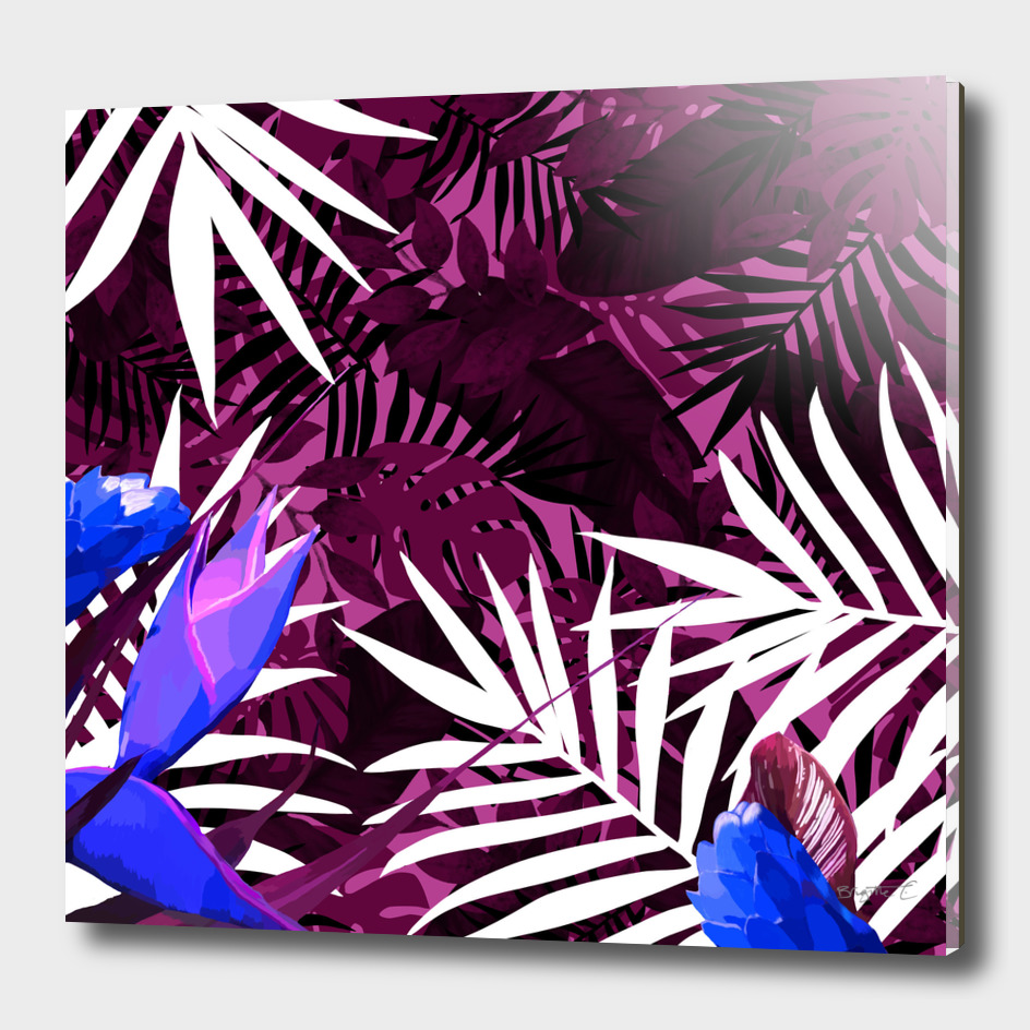 Bold Pink Tropical Paradise Design