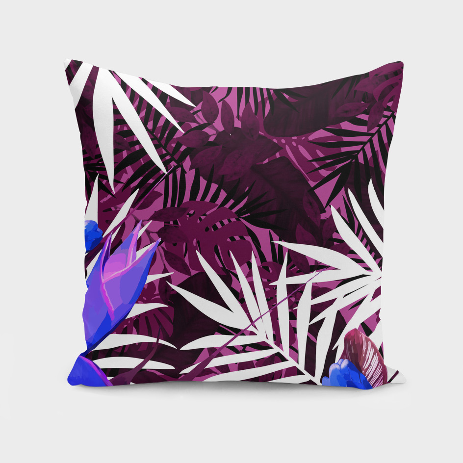 Bold Pink Tropical Paradise Design