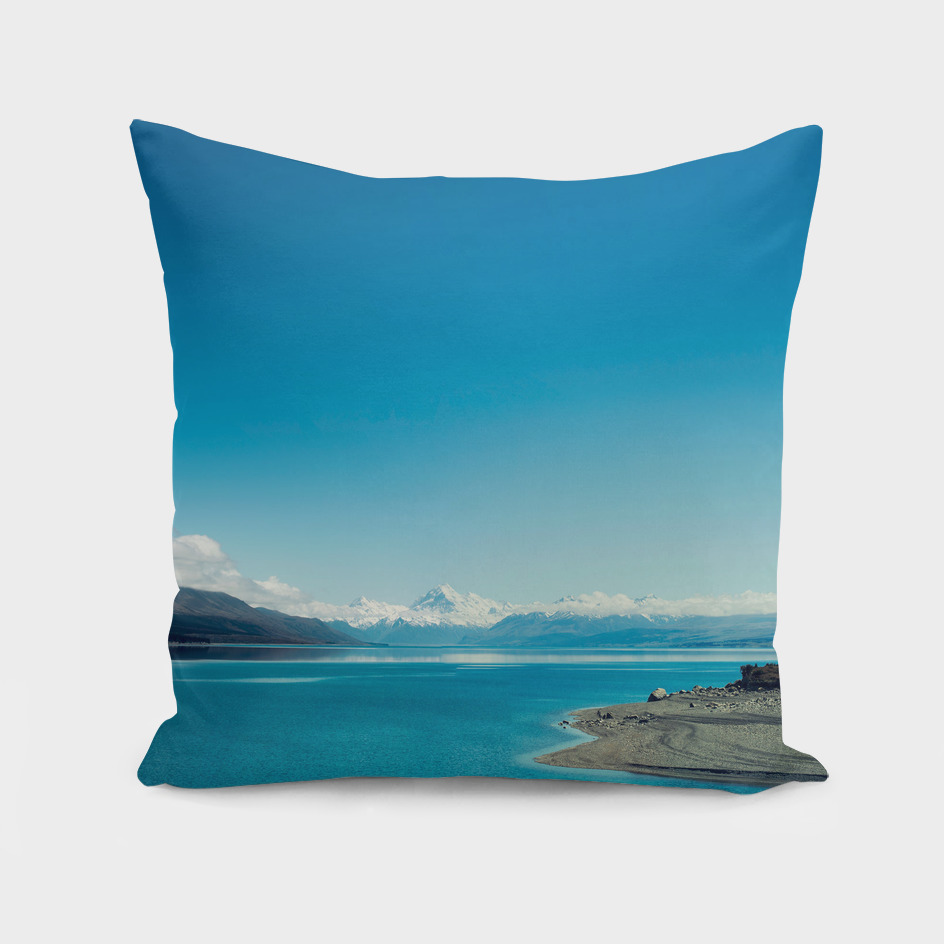 Blue & snowy landscape