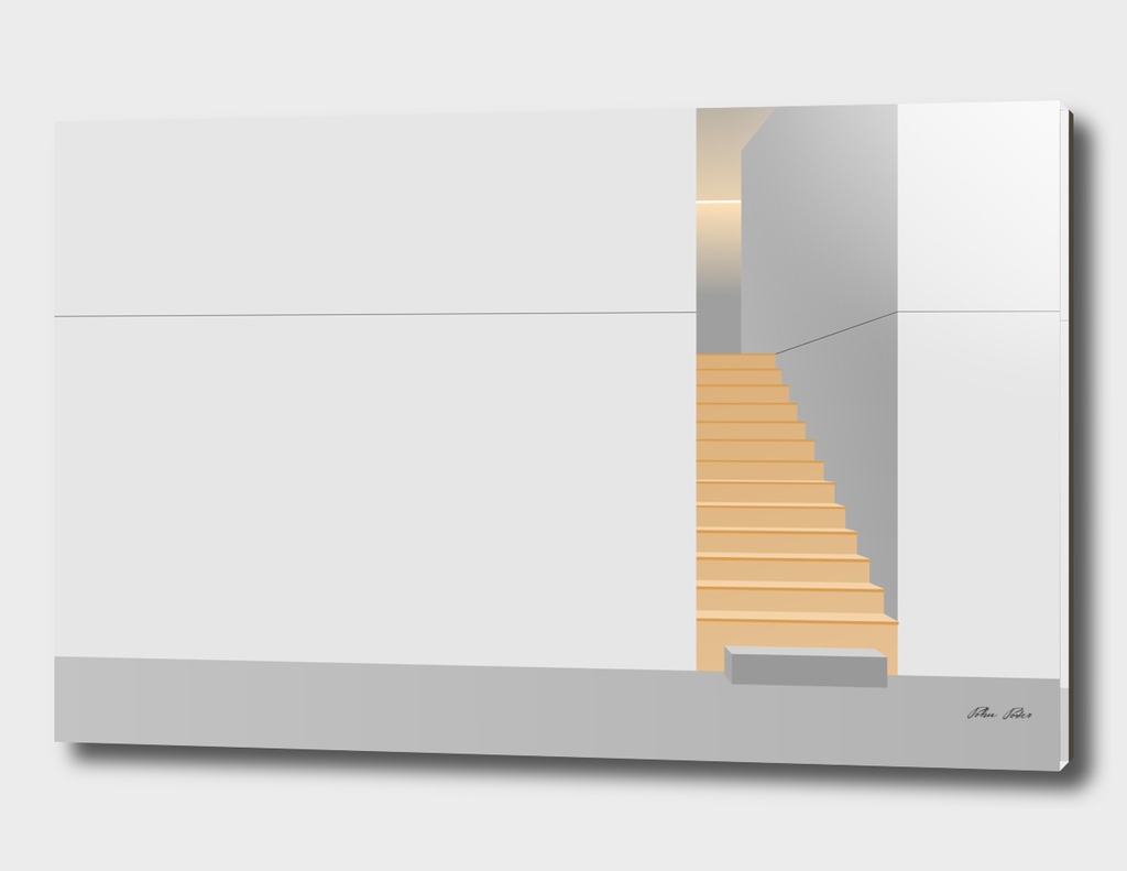vector Illustration minimal architecture space A