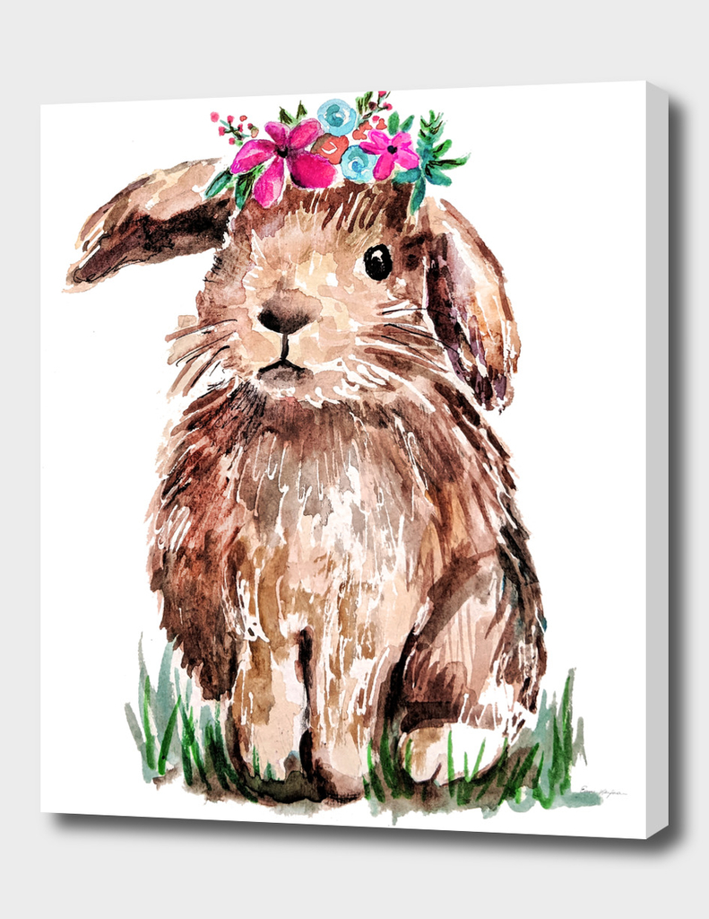 Bunny with Flower Crown
