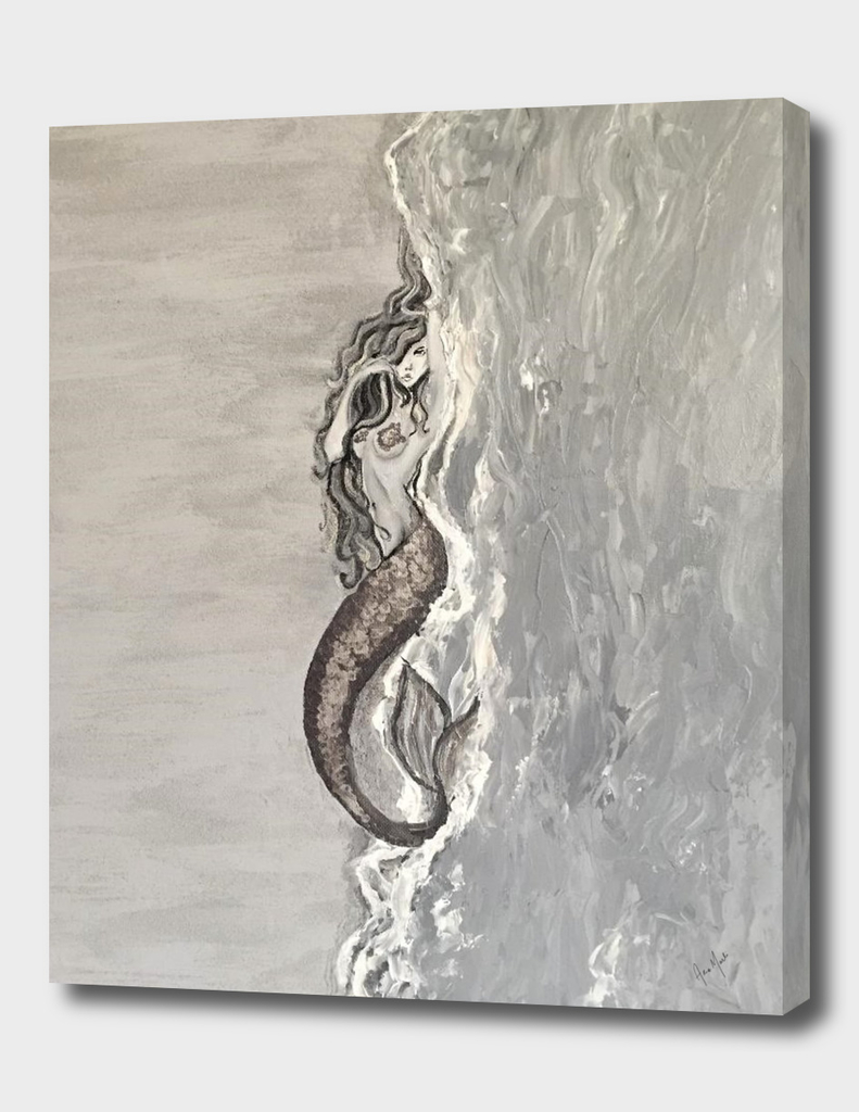 Washed Up Metallic Mermaid