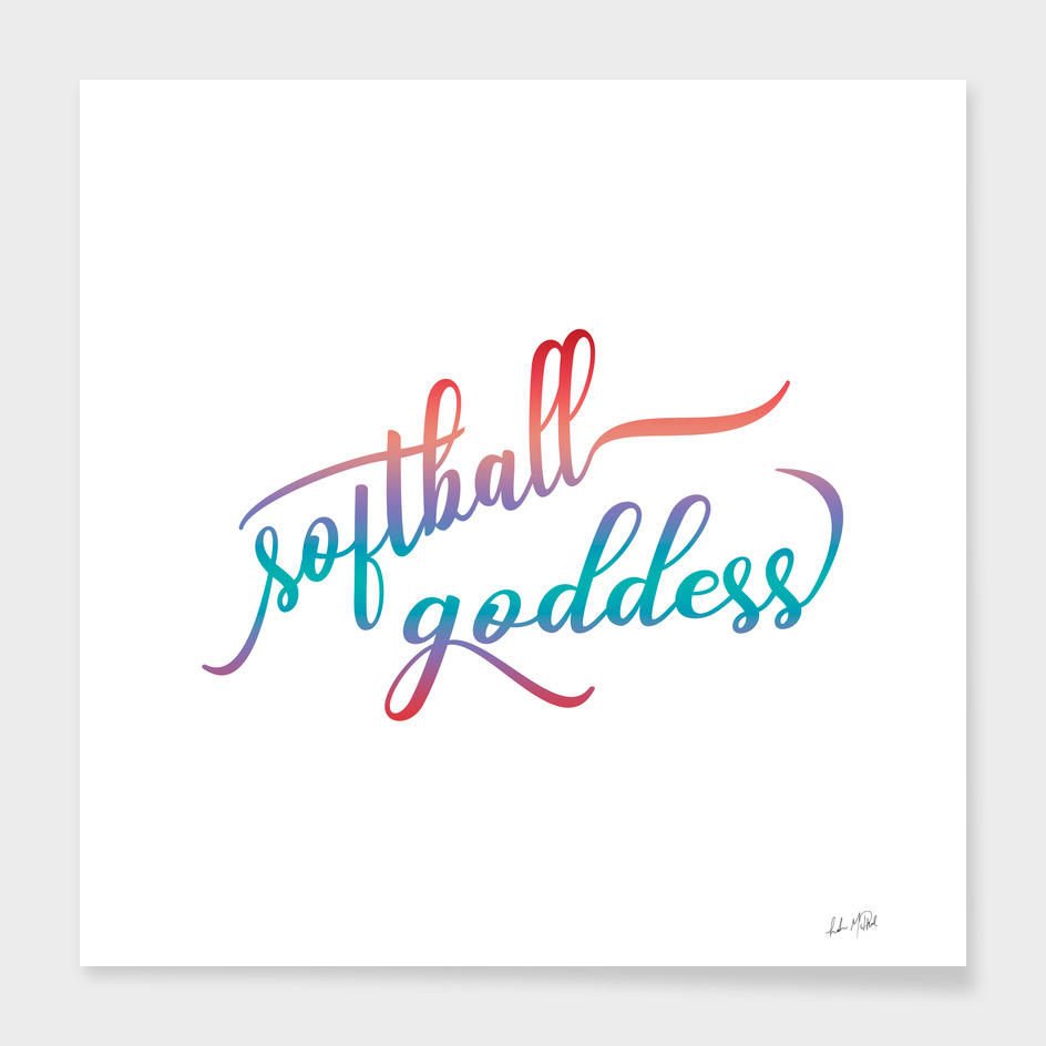 Summer Ombre Softball Goddess