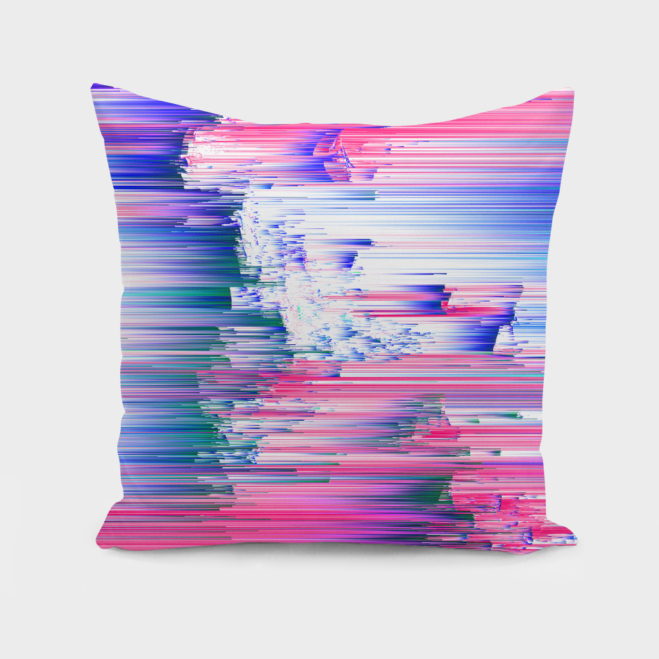 Only 90s Kids - Pastel Glitchy Abstract Pixel Art