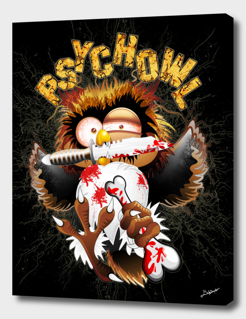 Psycho Owl Killer Cartoon