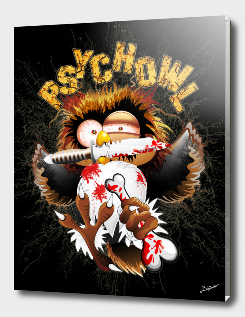 Psycho Owl Killer Cartoon