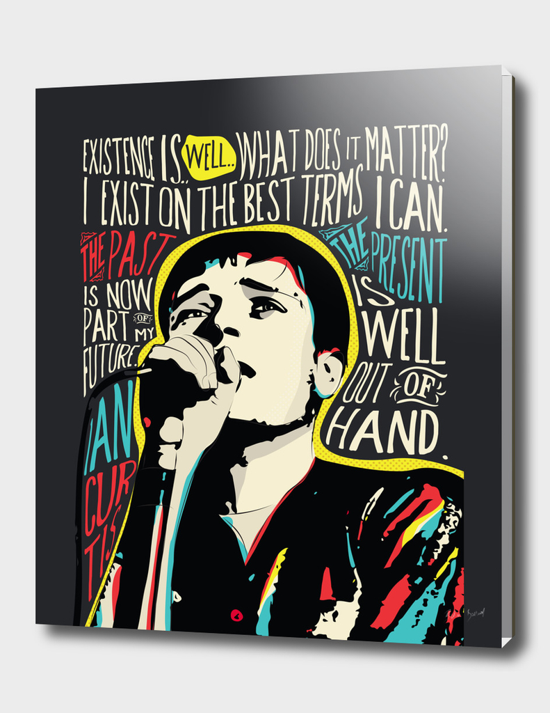 IAN CURTIS POP ART QUOTE