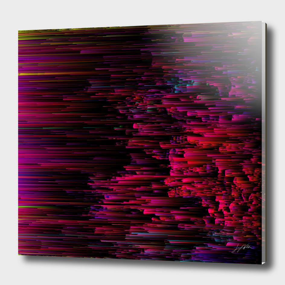 Speeding Neon - Glitch Abstract Pixel Art