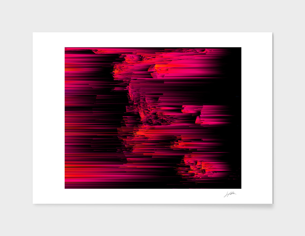 Burnout - Abstract Glitch Pixel Art