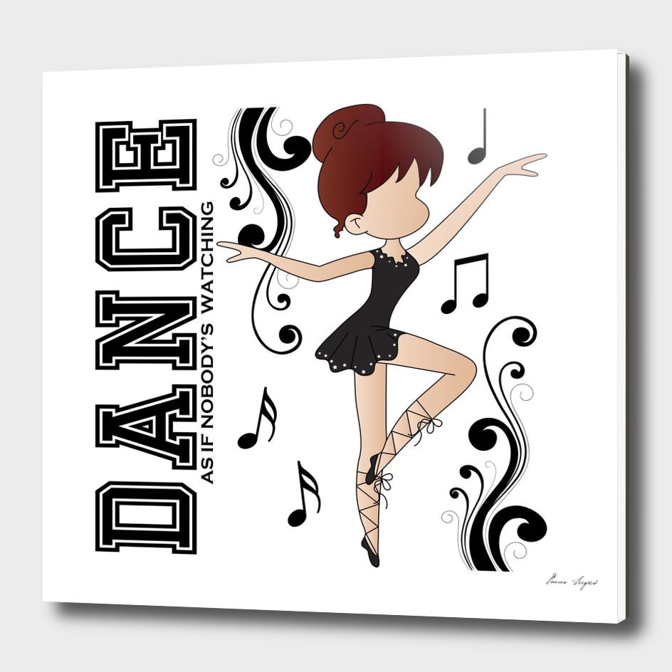 Cute Cartoon Ballerina Girl