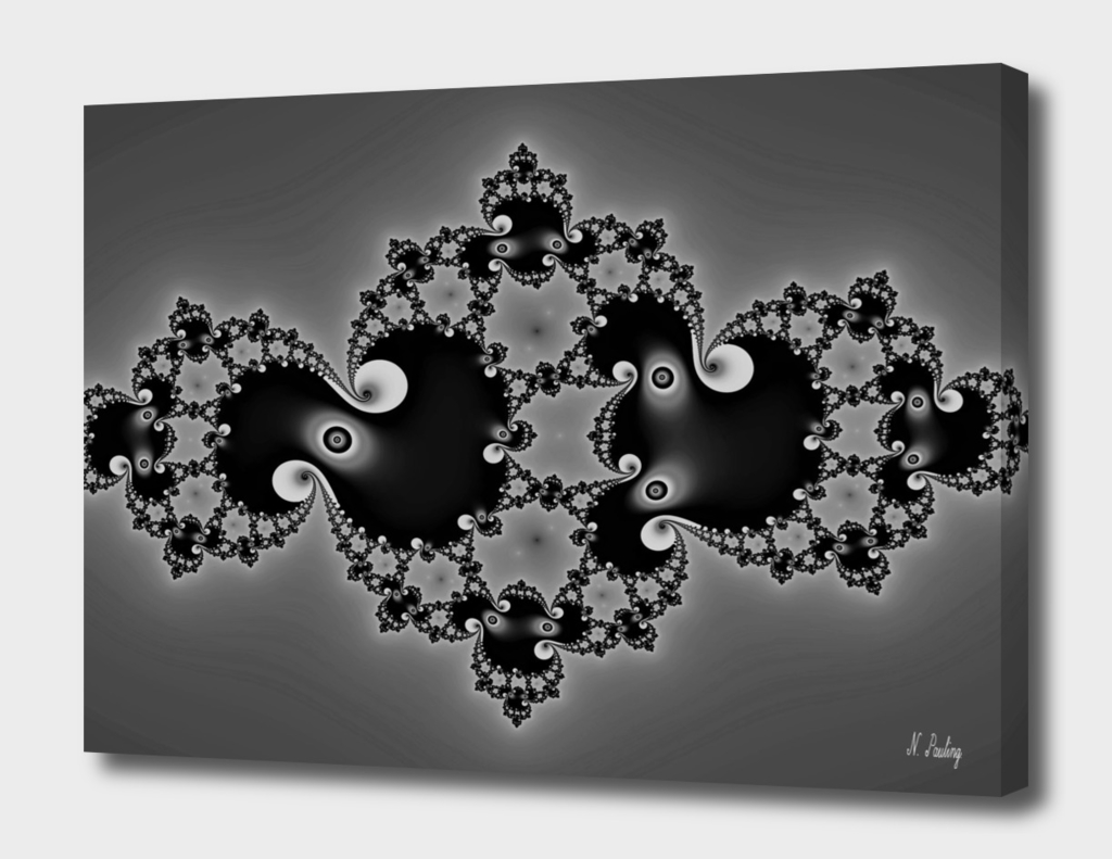 A Dainty Black and White Fractal
