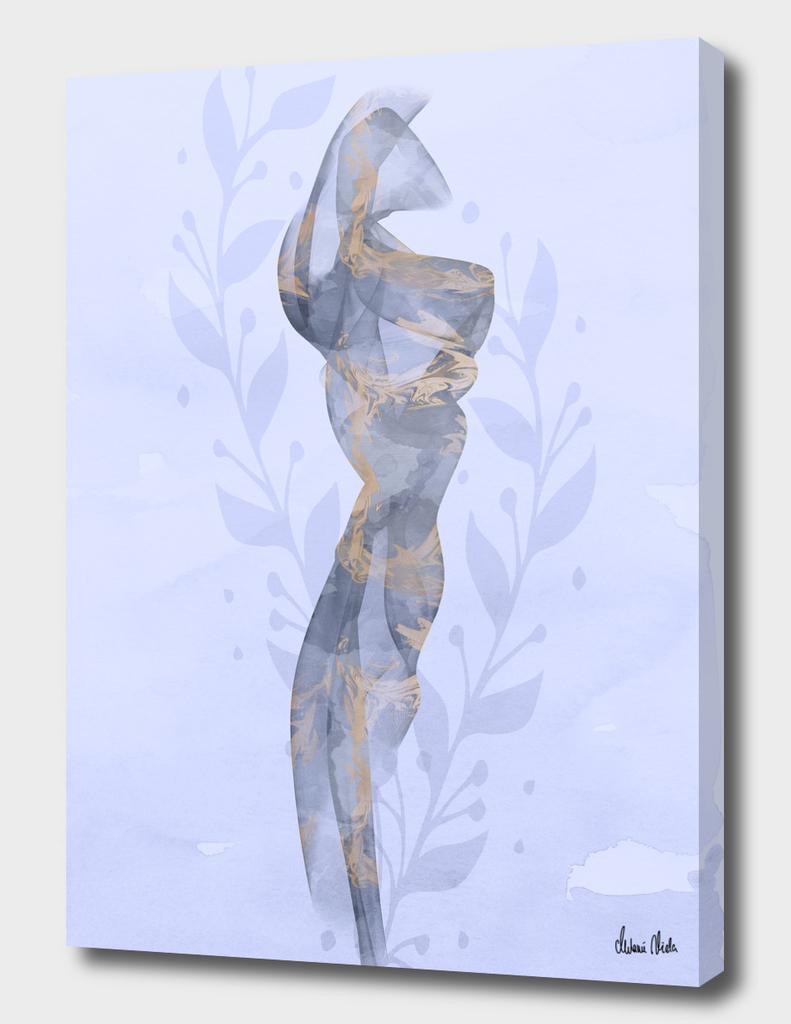 Silk scarf in a light summer breeze | purple
