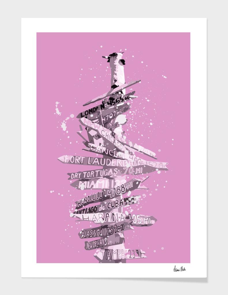 Graphic Art SIGNPOST | pink