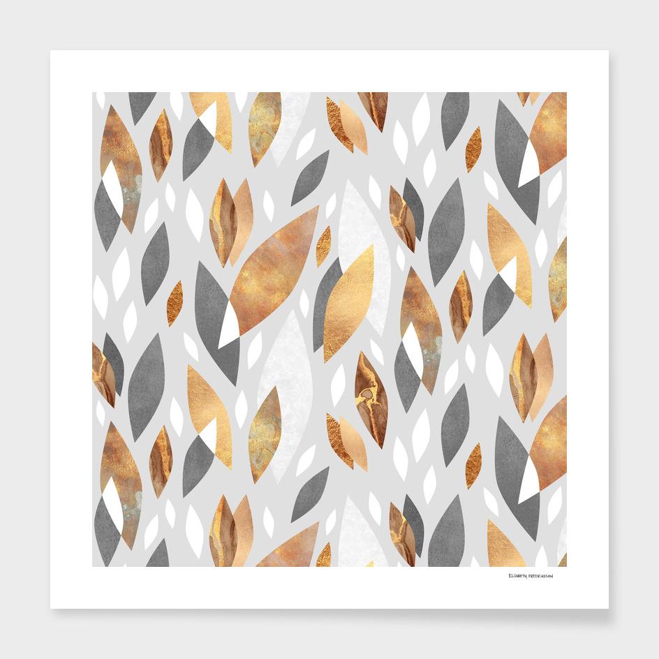 Falling Gold Leaves
