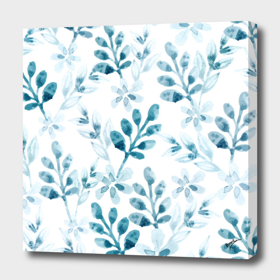 Watercolor Floral Pattern (Winter Version)