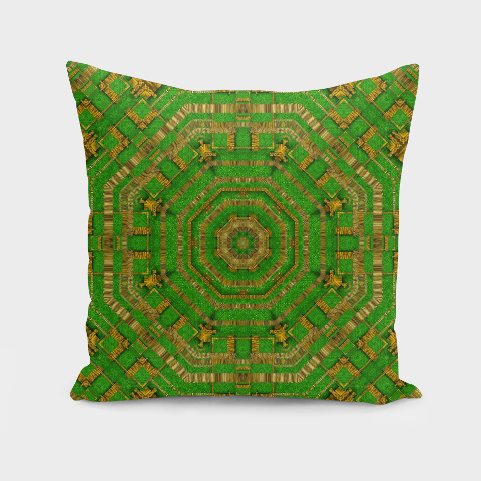 wonderful mandala of green and golden love