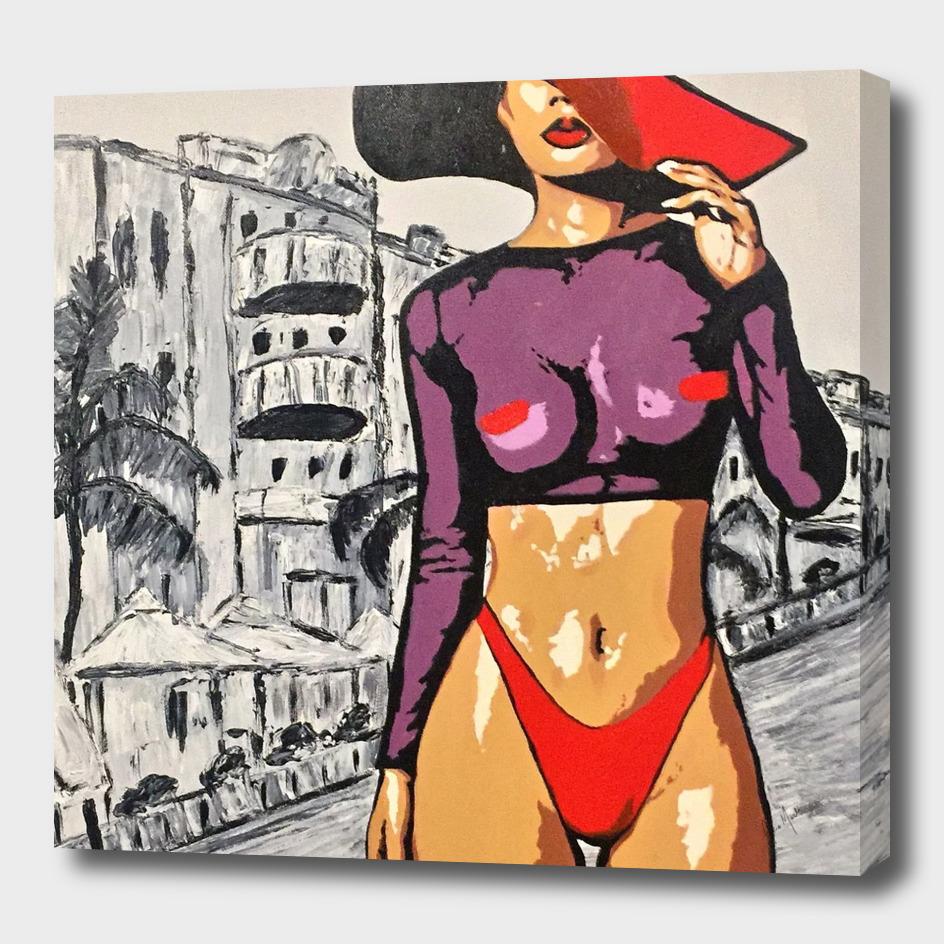 Woman in Red Pop Art