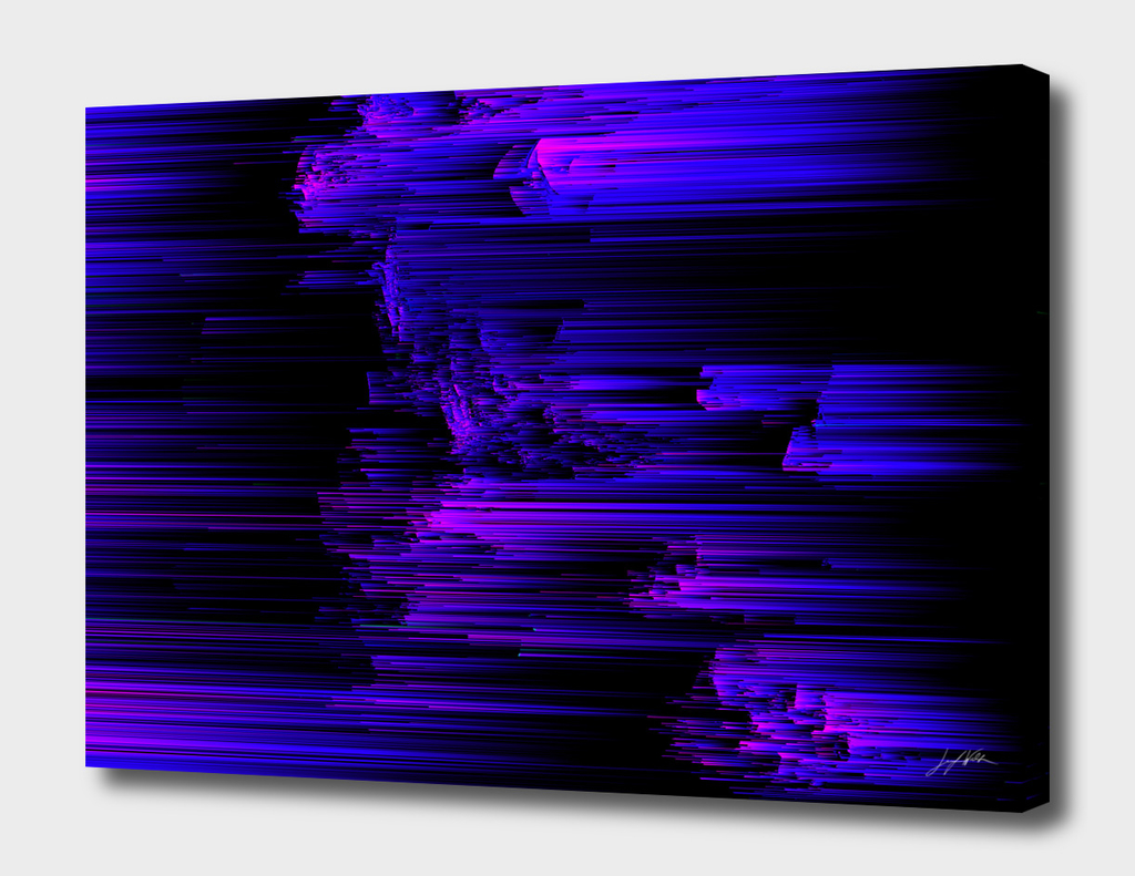 Ultraviolet Lightspeed - Abstract Glitch Pixel Art