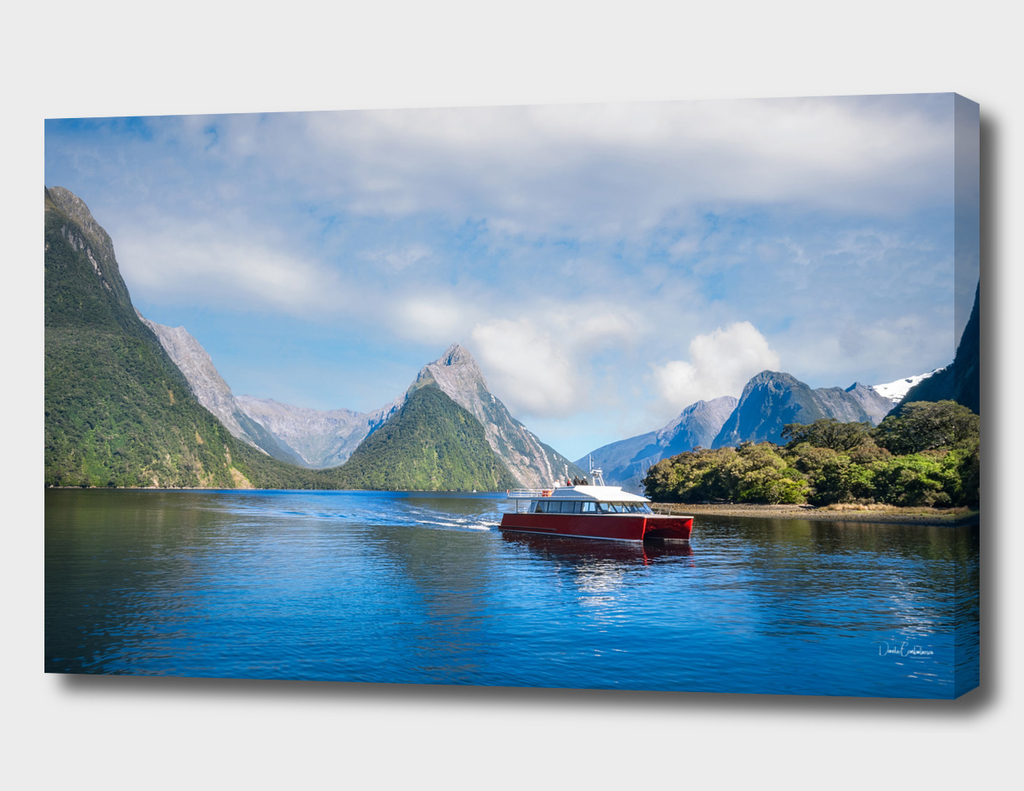 A Boat Cruise at Milford Sound, New Zealand