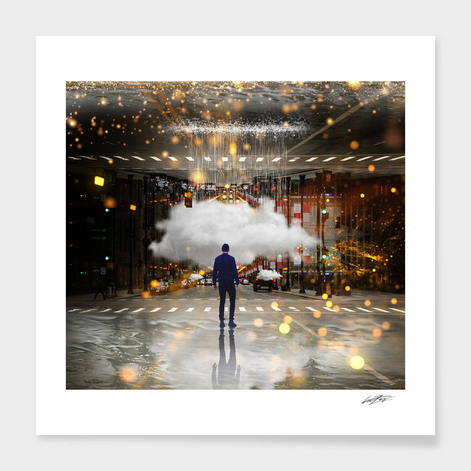 Raining on the streets