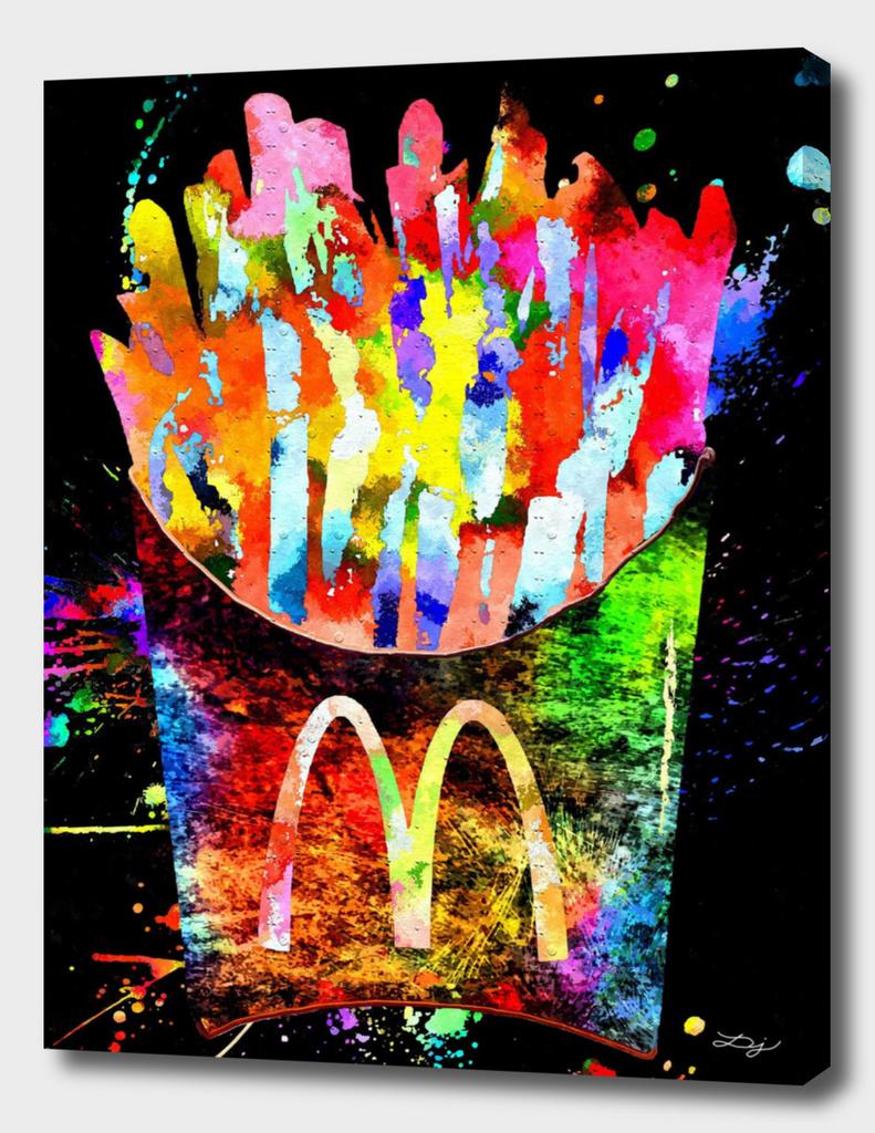 McDonald's French Fries Grunge