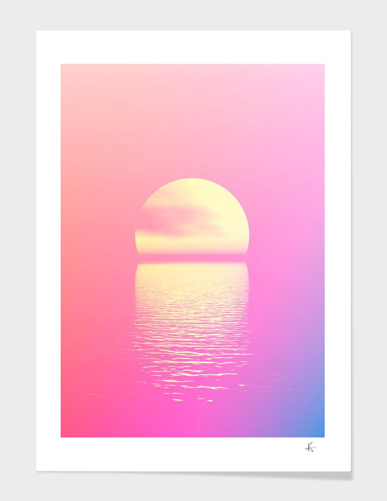 Minimal. Sunset