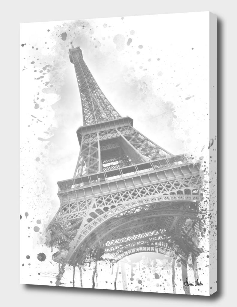Watercolor Eiffel Tower | grey