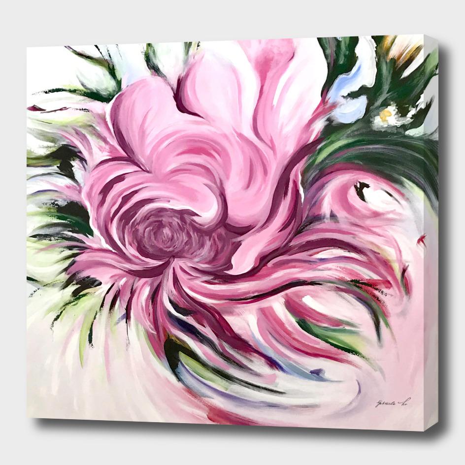 Flower acrylic painting