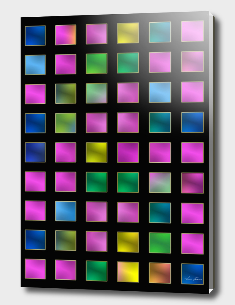METALLIC VARIETY - CHECKERED COLORFUL PATTERN