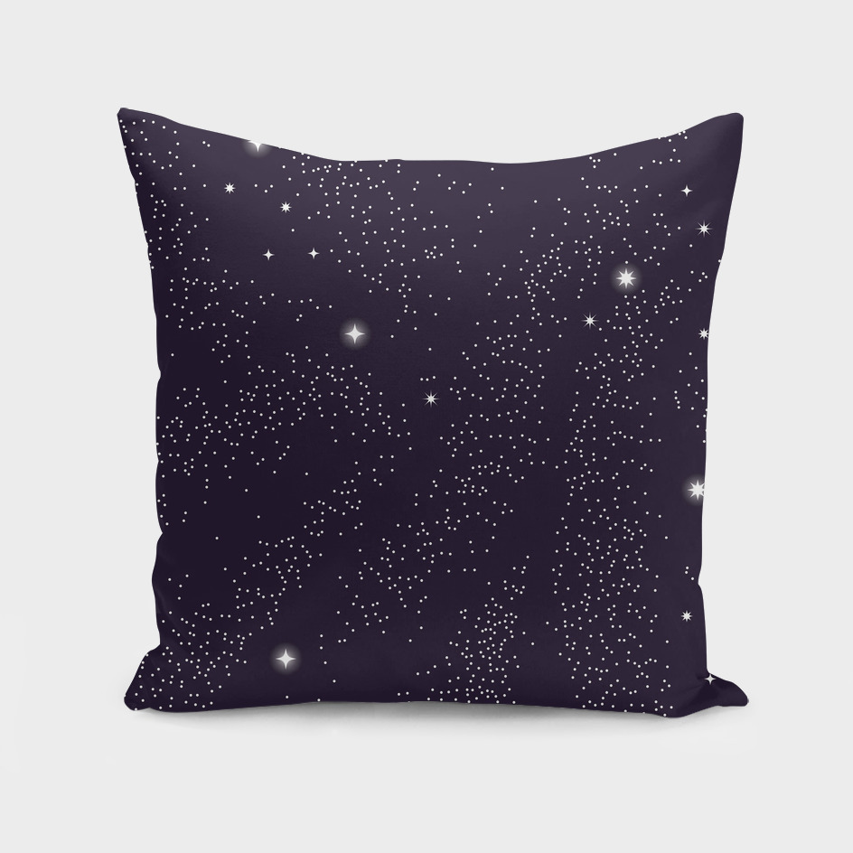 Universe with planets and stars seamless pattern, cosmos 002