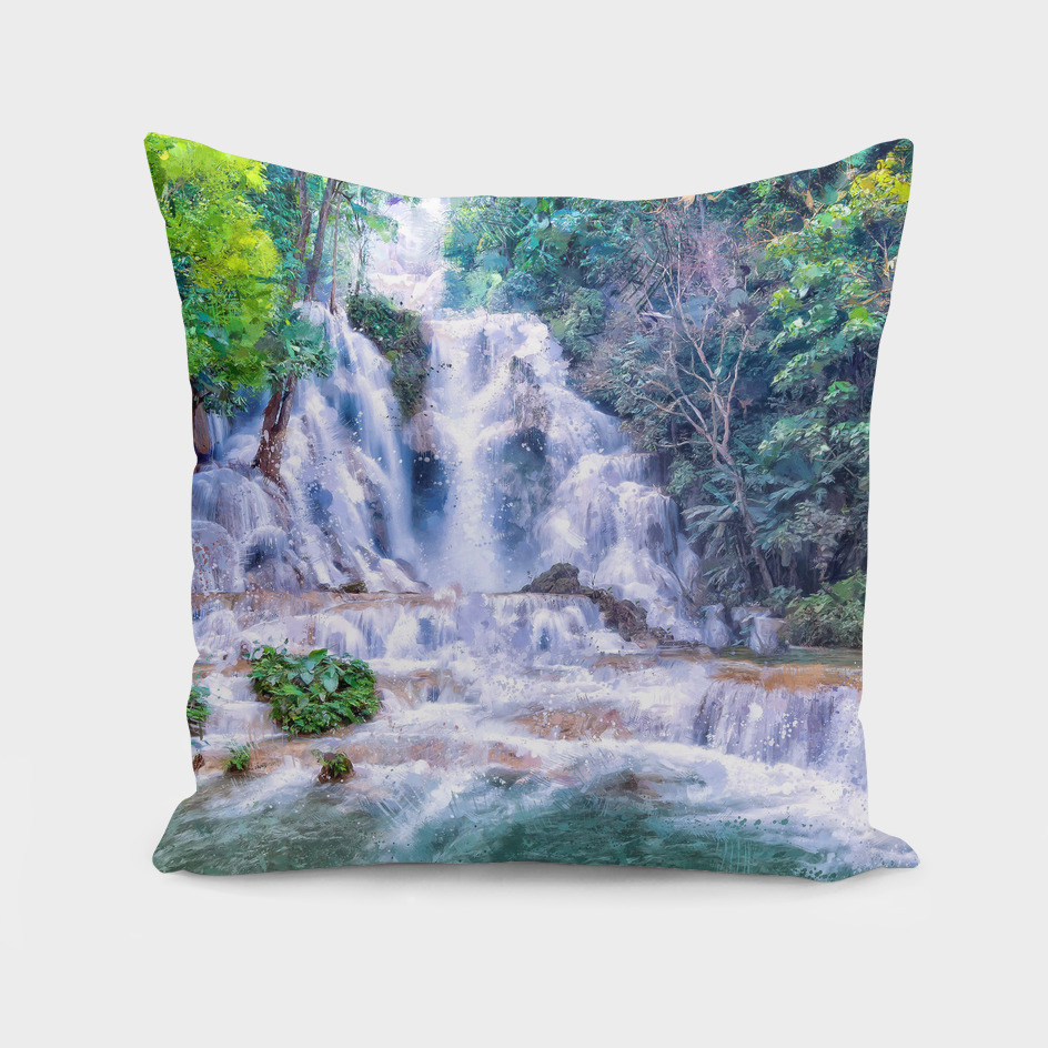 Digital Painting - Kuang Si Falls