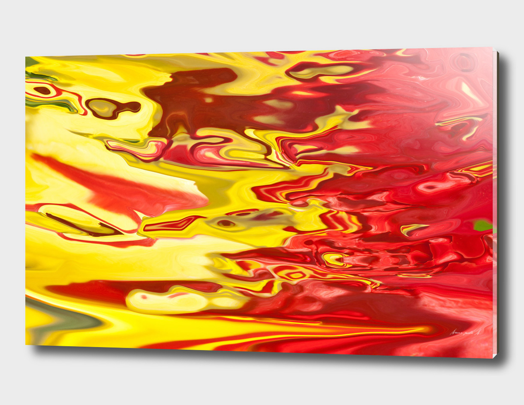 red and yellow flow